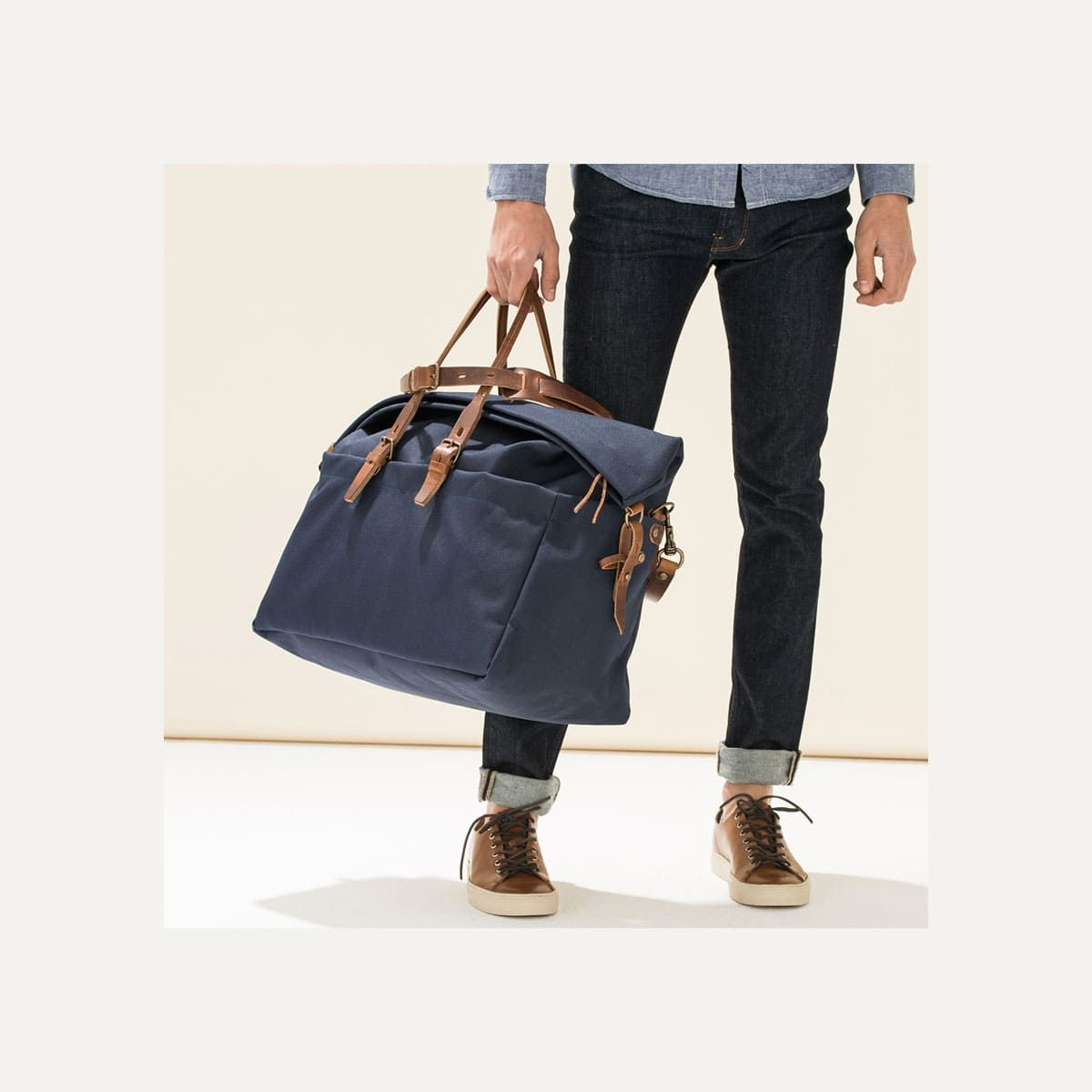 887f49ec2b Sac de voyage toile & cuir Homme - Made in France | Bleu de chauffe ...