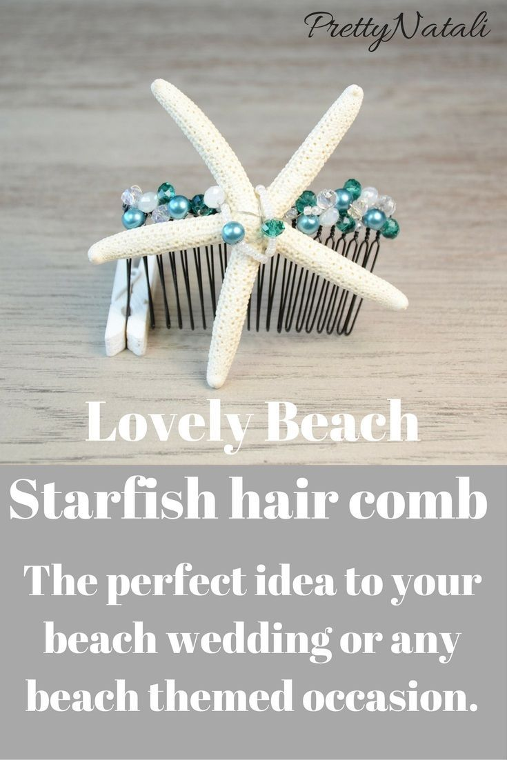 This pretty beach hair comb was handmade by me using real, natural ...