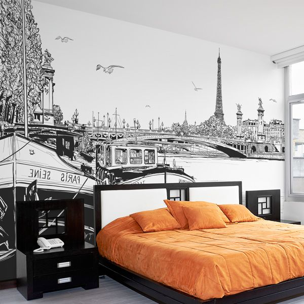 Fotomural En Vinilo Y Lienzo De Ilustracion De Paris