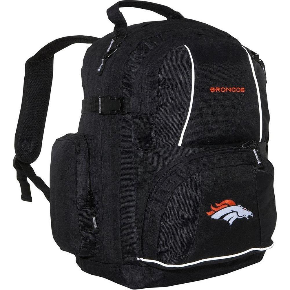 Denver Broncos Logo Trooper Black Backpack Black