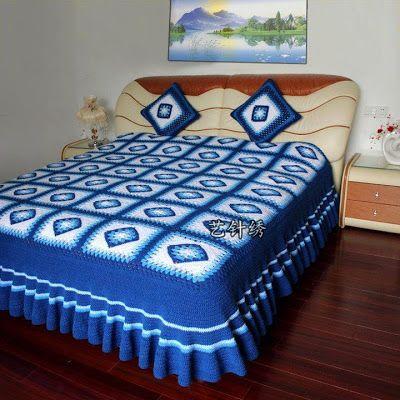 Want to make a beautiful crochet bedspread free. ~ Crochet Free ...