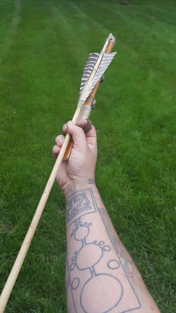 basketmaker atlatl made by jumping fox primitive tool works for information find him on Facebook or instagram or email to jumpingfoxptw@gmail