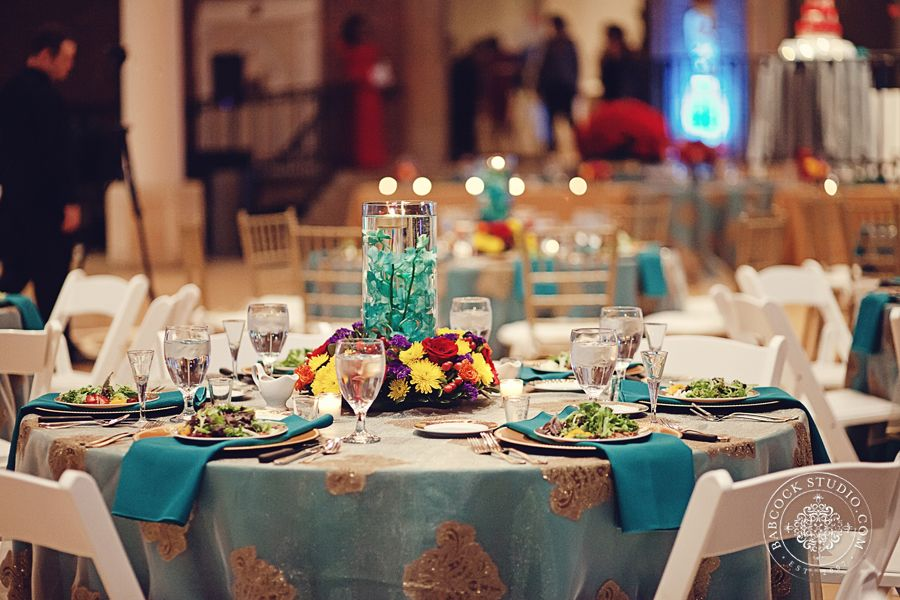Gold And Turquoise Wedding At The Dayton Art Institute Image By Babcock Studio Dayton Gold Turquoise Weddings Even Event Rental Party Rentals Party Event