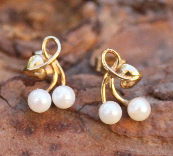 70/'s Pearl Earrings Pearl Earrings Vintage Pearls