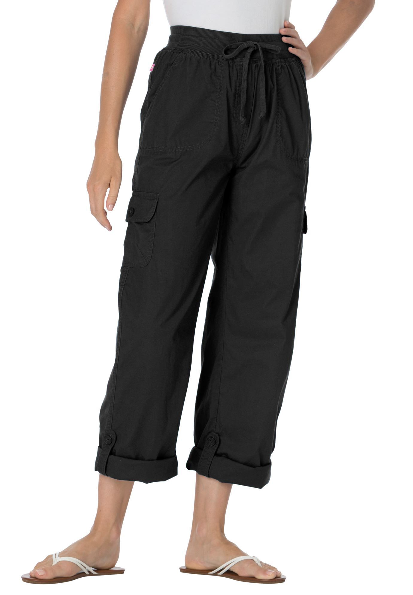 bf2791e4146c0 Petite capri pants in convertible lengths - Women s Plus Size Clothing