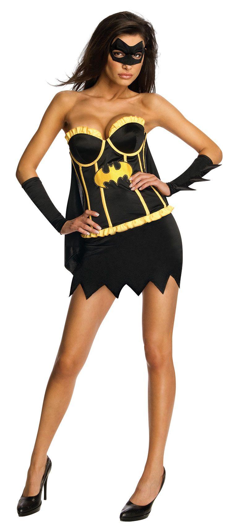 C998 DC Comics Secret Wishes Batgirl Corset Adult Womens Superhero Costume