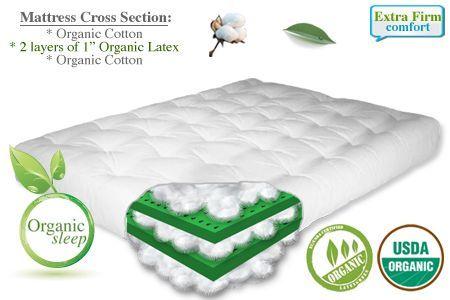 Organic Cotton Plus 2 Latex Extra Firm Mattressfuton