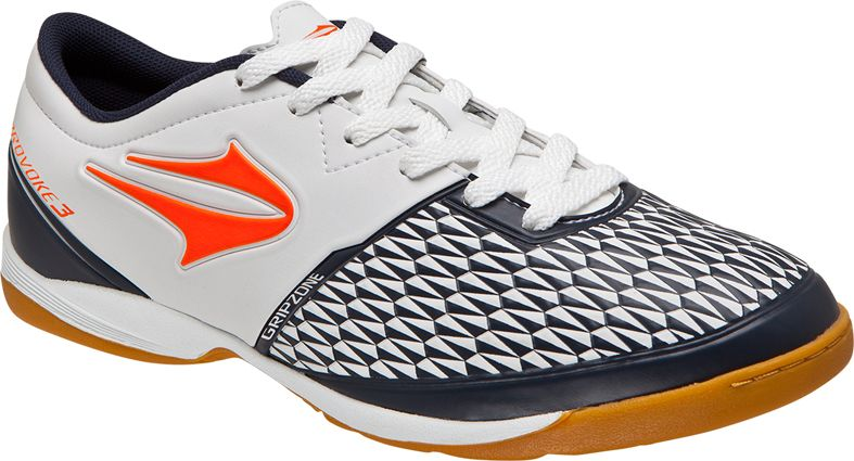 391e58b502 Tenis Topper Indoor Provoke III Branco e Laranja Chuteira Topper