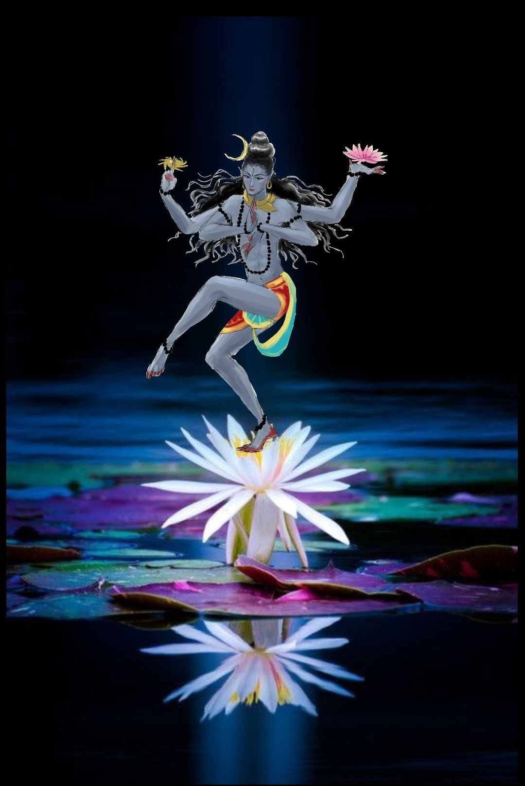 lord shiva as nataraj in creative art painting shiva pinterest rh pinterest com creative art 15517 creative art events
