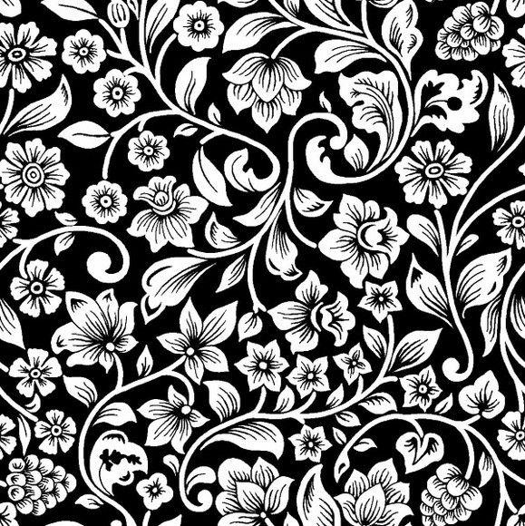 Desenho Arabesco Preto E Branco Flores Preto E Branco