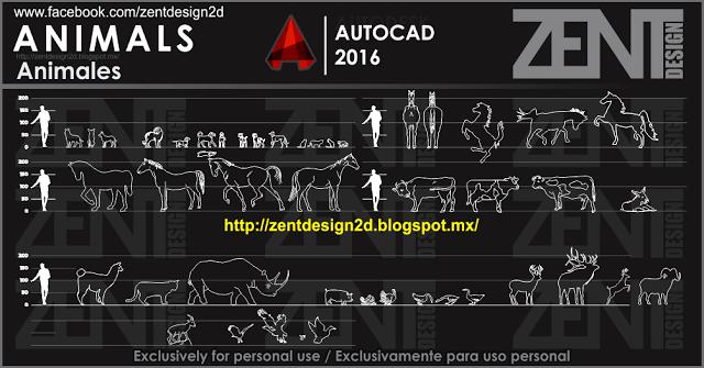 ANIMALS - Animales - DWG