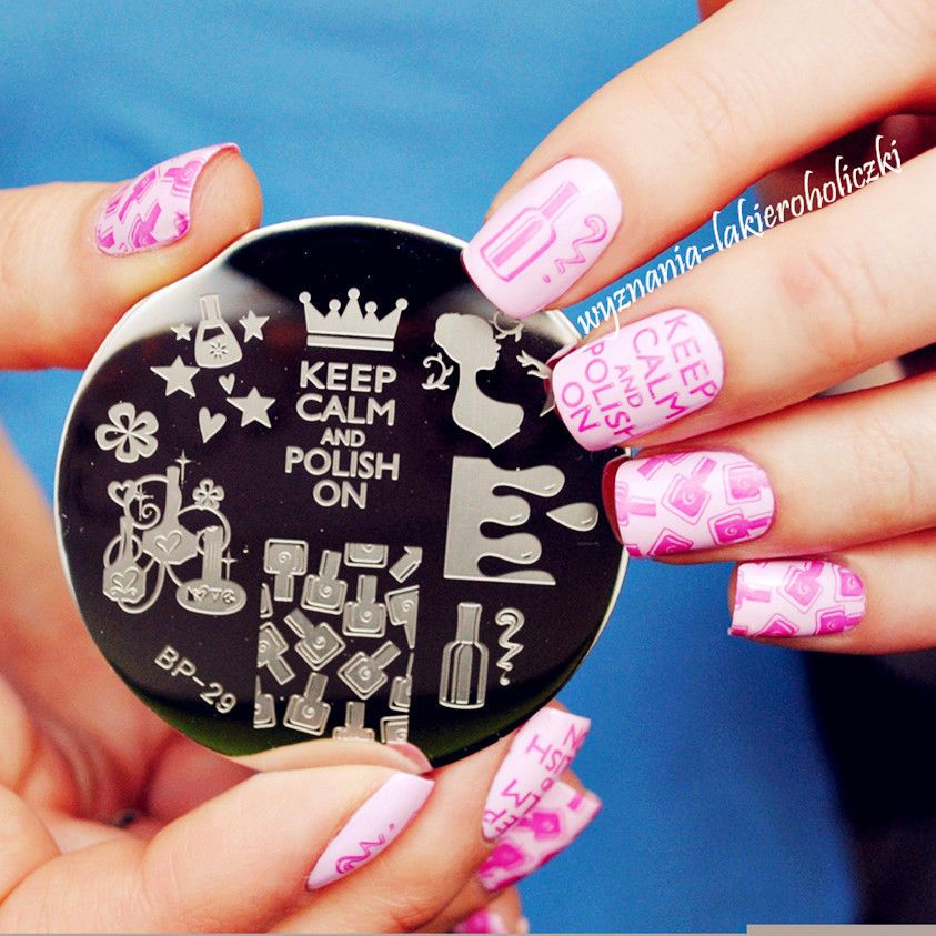 BORN PRETTY Nail Art Stamping Plate Beauty Theme Image Stamp ...