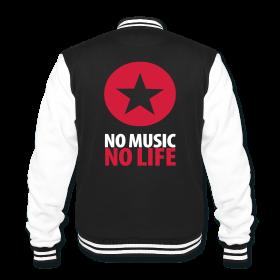 NO MUSIC NO LIFE - Back Print - College Jacket ~ 1936