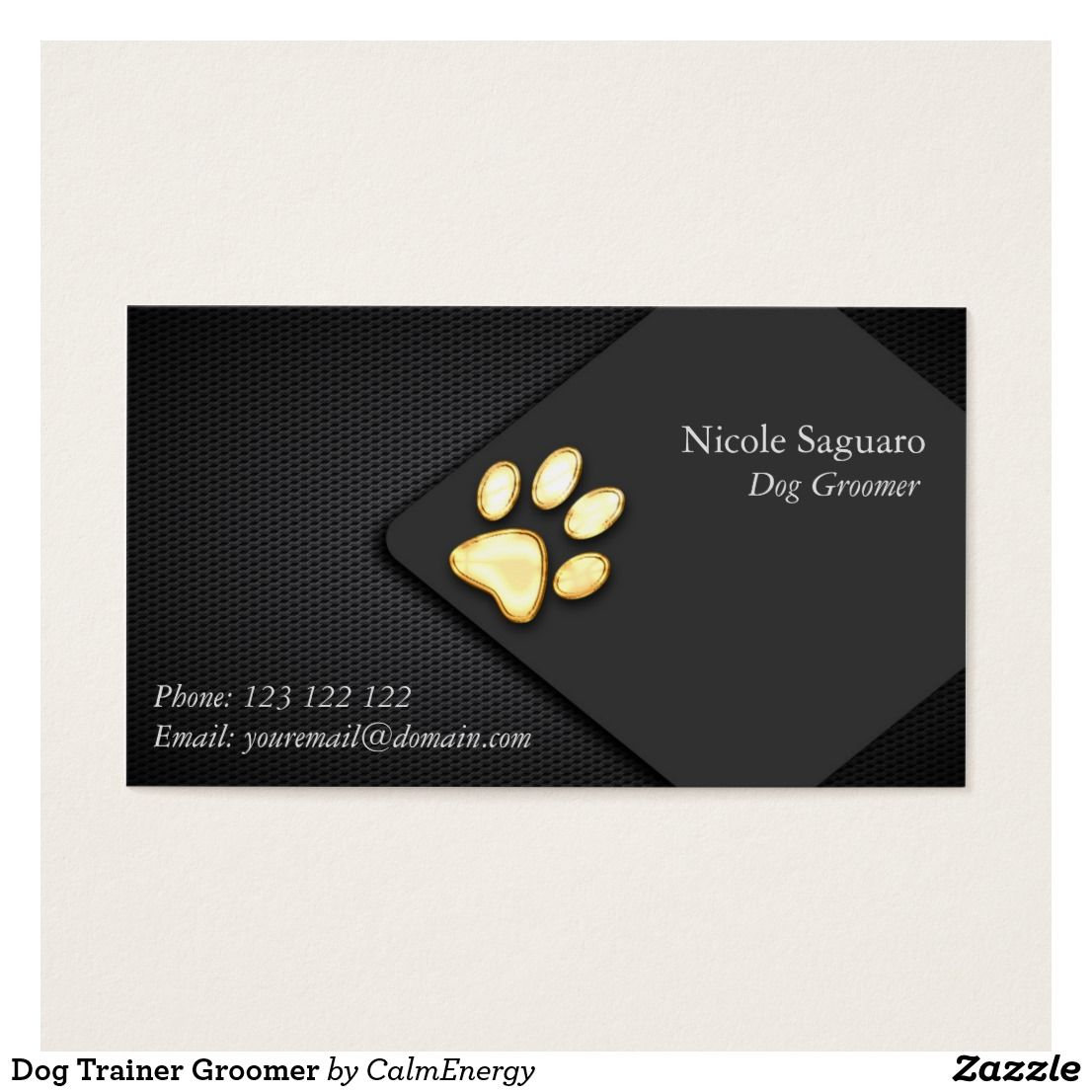 Dog Trainer Groomer Business Card Zazzle.ca Dog