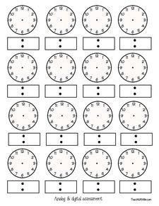 Clock Templates Analog Clock Templates Digital Time Templates