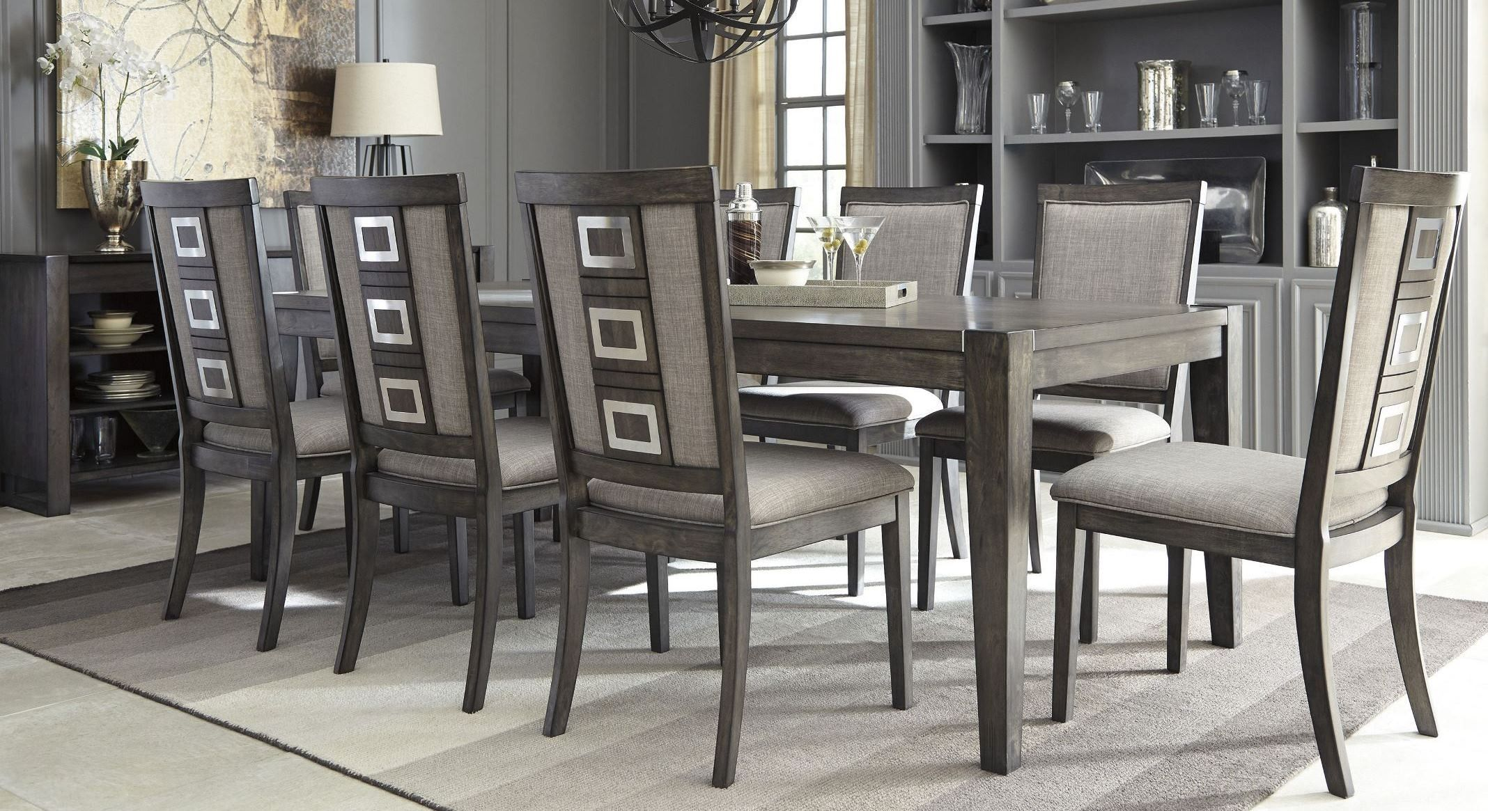 34+ Parkins rustic espresso rectangular dining room set Top