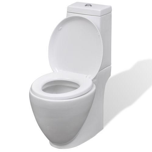 design stand toilette wc bodenstehend keramik sitz inkl spuelkasten rund weiss sandra und. Black Bedroom Furniture Sets. Home Design Ideas