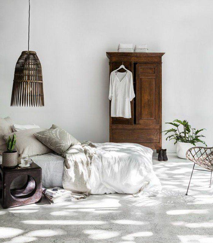 decor de chambre a coucher champetre chambre rustique decoration ...