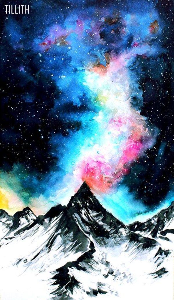 30 Startling Acrylic Galaxy Painting Ideas 8211 Watercolor art 30 Startling Acrylic Galaxy Painting Ideas  Watercolor art