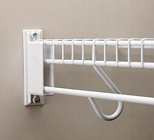 Freeslide Wall End Bracket 1 Pack At Menards 2 49 Wire Closet Shelving Wire Shelving Closet Kits
