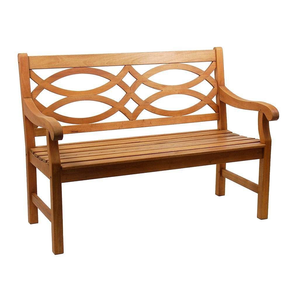 47 Eucalyptus Hennell Bench With Lattice Back Natural Oil Finish Achla Designs In 2021 Outdoor Furniture Garden Bench Wooden Bench