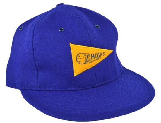 d531aea7b471a Memphis Chicks Red Ball Pennant Fitted Baseball Cap by EBBETS FIELD ...