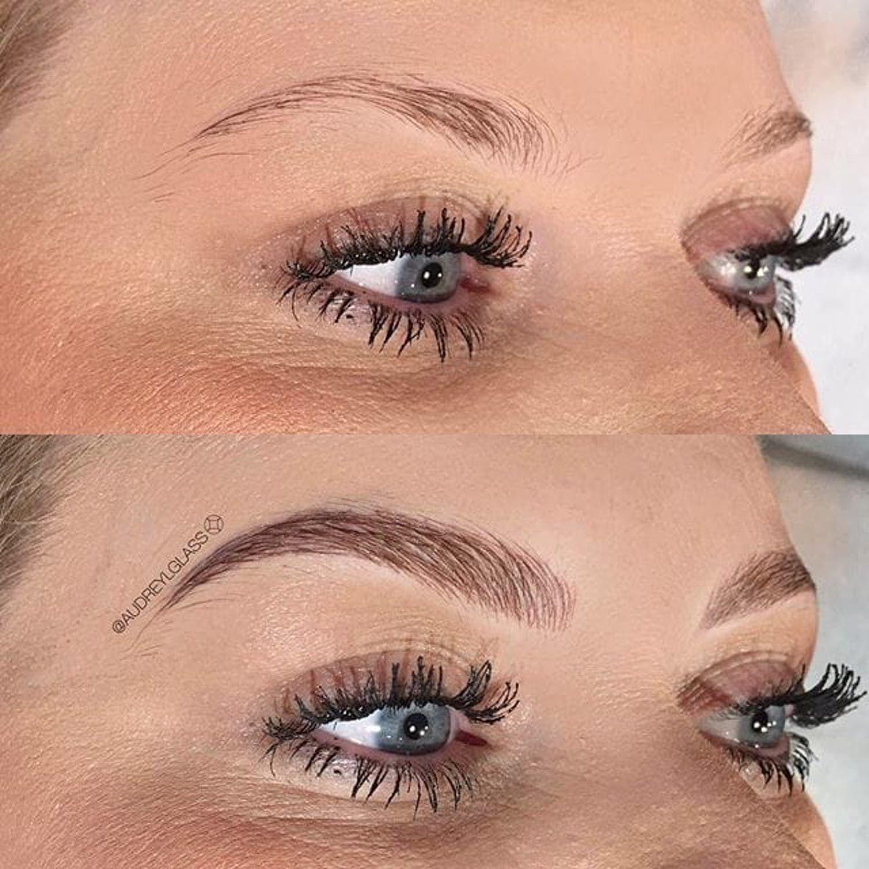 21 Pairs Of Tattooed Eyebrows On Fleek Eyebrow