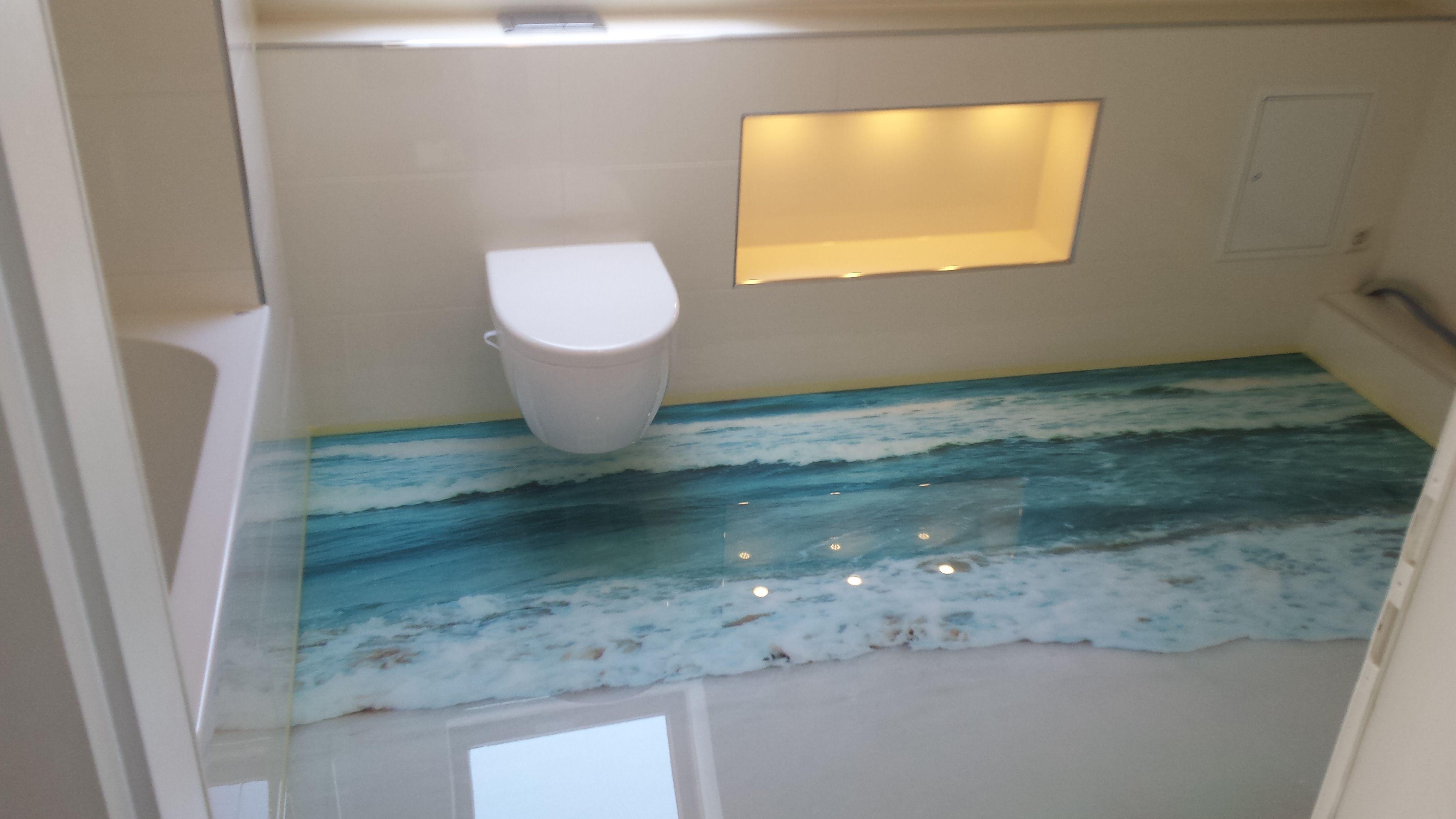 Stedfloor 3d Boden Im Badezimmer Badezimmer Fussboden Bodenbeschichtung Boden
