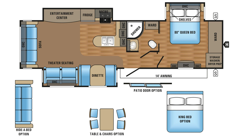 Rear Living Lightweight Rear Living Travel Trailer Floor Plans