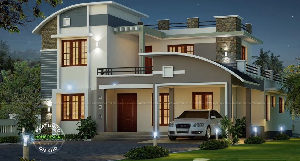 Khd Inspired Double Storey Villa With The Interior That Will Blow Your Mind I Kerala House Design Zen House Design Duplex House Design