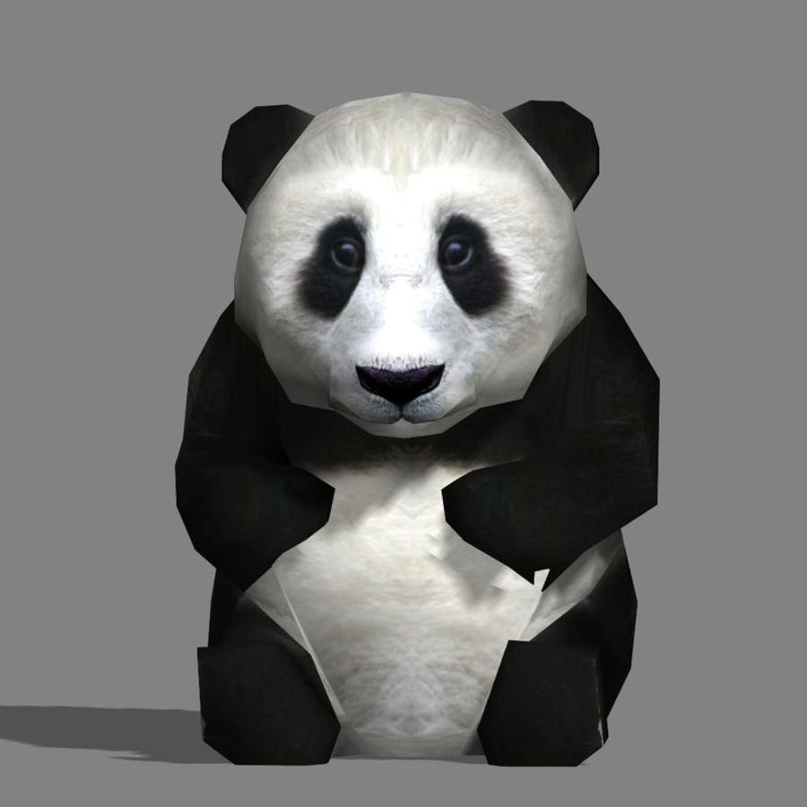 Baby Panda 3D Модель 10 .unknown .blend .fbx .obj .3ds