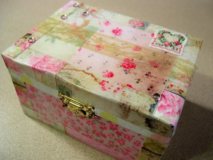 Mod Podge Boxes Mod podge jewelry boxes Decoupage or Mod podge