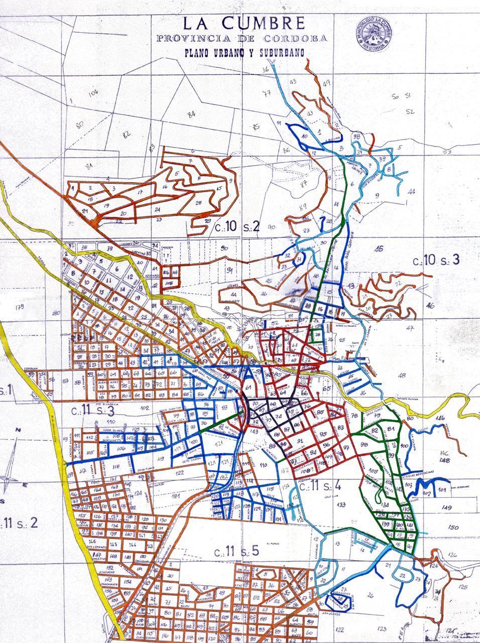 Mapa De La Cumbre La Cumbre Mapas Mapa De Argentina