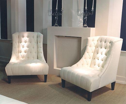 Beautiful High Backed Armchairs