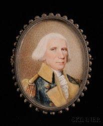 Portrait Miniature of a Revolutionary War Era Military Officer