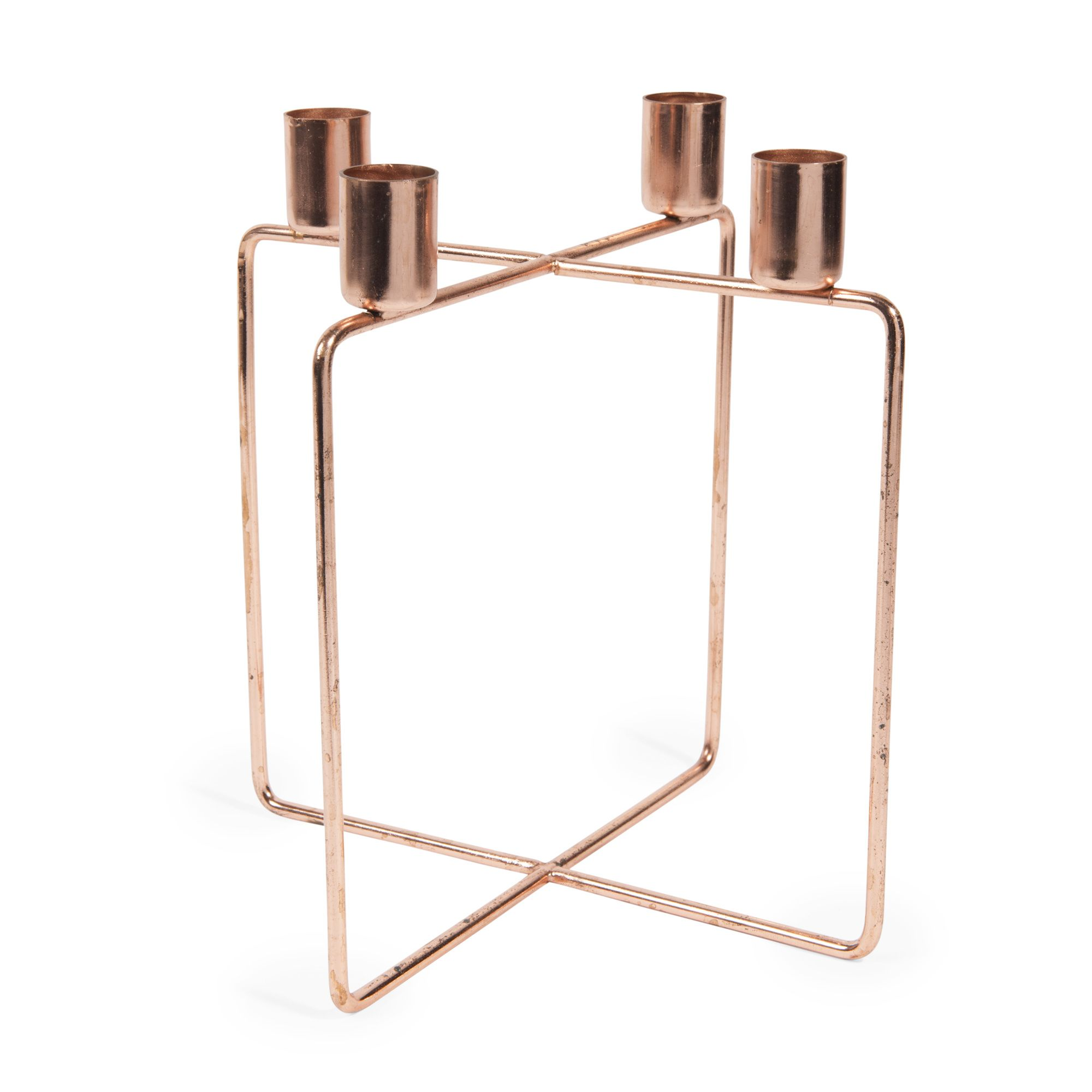Kerzenhalter Soho Aus Metall In Kupferoptik H 21 Cm Maisons Du Monde Candelabros De Metal Metal Soho