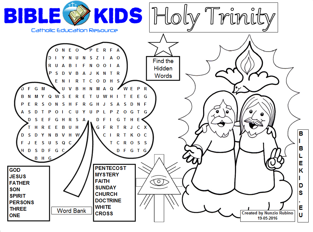 43++ Father son holy spirit coloring page HD