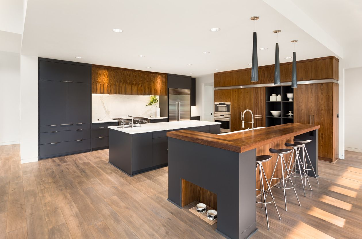 44 L-Shape Kitchen Layout Ideas (Photos) | Grey kitchen cabinets ...
