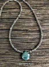 Photo of frauenmode.ga  Perlenkette, Labradorit Halskette, Edelstein Halskette, zierliche…