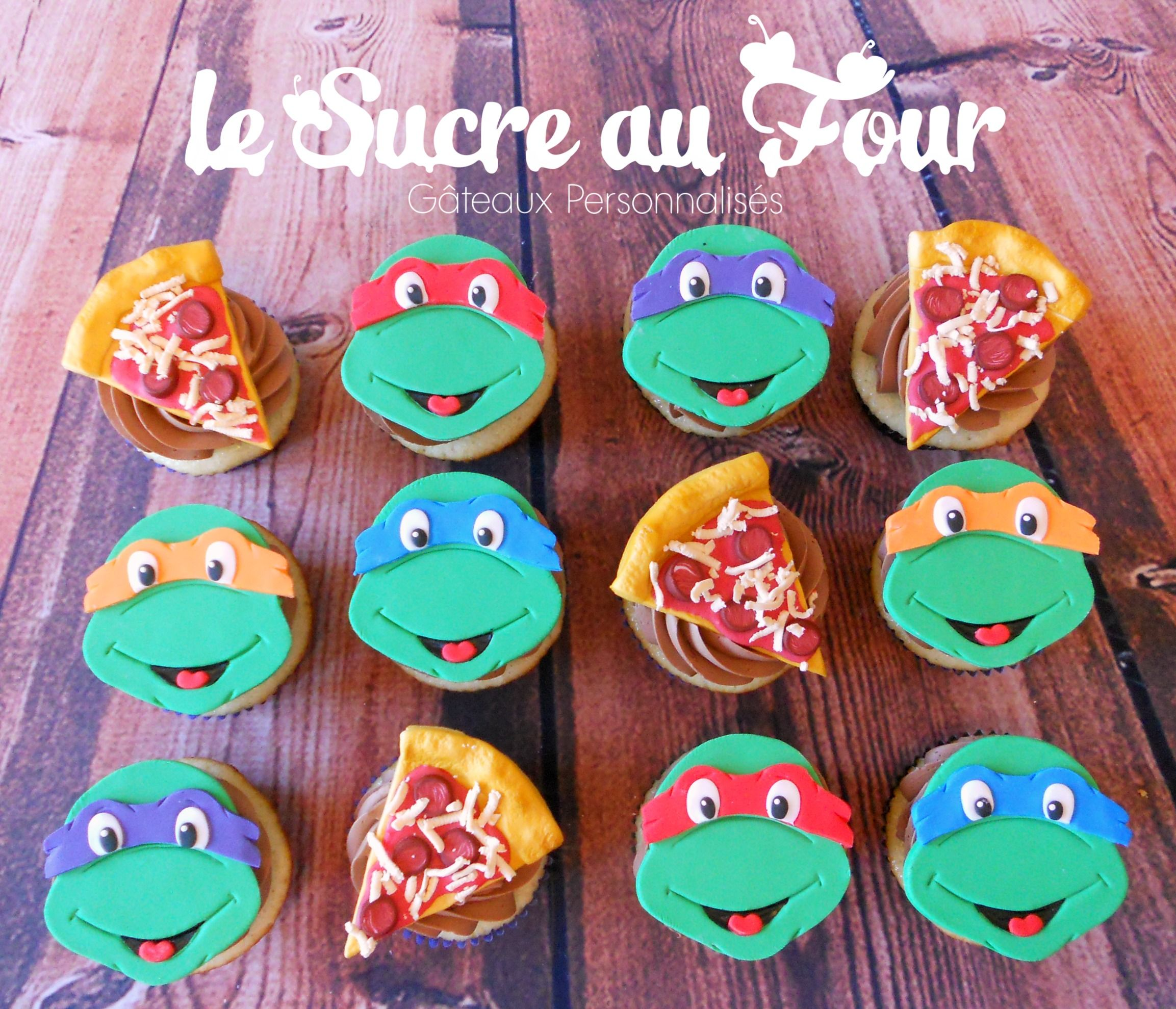 Ninja Turtles Cupcakes And Slice Of Pizza Cupcake Toppers Ninja Turtle Cupcakes Turtle Cupcakes Pizza Cupcakes
