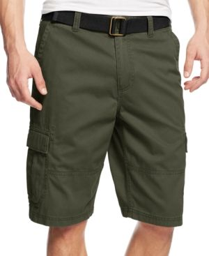 12b1ab0d4b American Rag Men's Belted Relaxed Cargo Shorts, Only At Macy's - Green 30