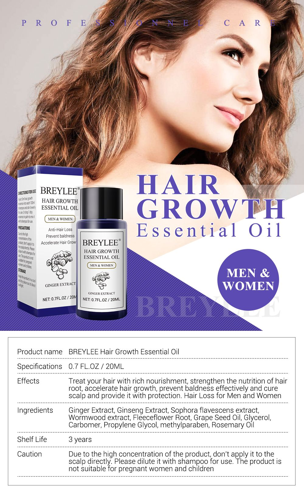 Vitamins for Hair Growth} and Treat your hair with rich nourishment, strengthen the nutrition of hair root, accelerate hair growth, prevent baldness effectively and cure scalp and provide it with protection. Hair Loss for Men and Women