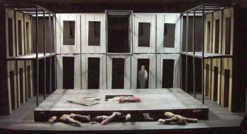 Macbeth by William Shakespeare, directed by Jackie Doyle for Lyric Theatre, Belfast, Sept 2002, Set by Stuart Marshall - Theatre http://theredlist.com/