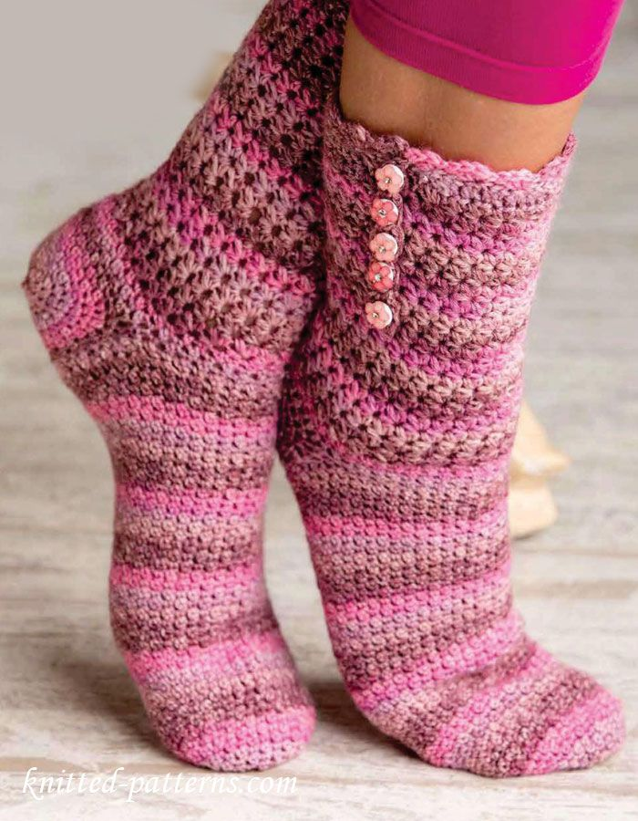 Crochet socks pattern free | I Love Crochet | I Love Crochet by ...