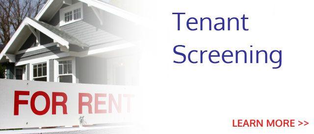 Get Excellent Tenant Screening Services Tenant Screening Tenants