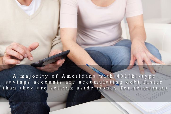 A majority of americans with 401ktype savings accounts