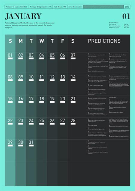 Calendar | Designer: Tim Wan - http://www.timwan.co.uk/index.php?/work/predictions/