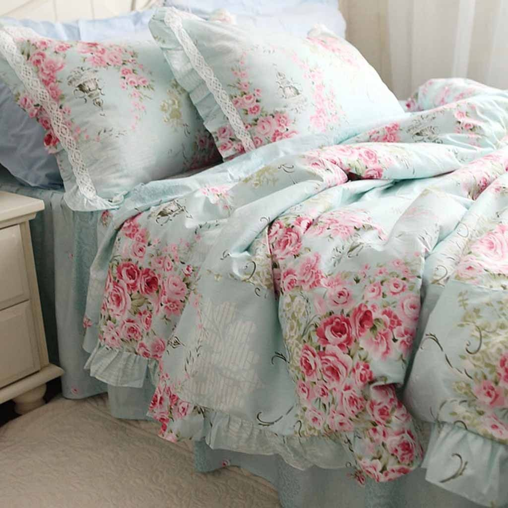 Share this page with others and get 10 off blue rose - Blue and pink floral bedding ...