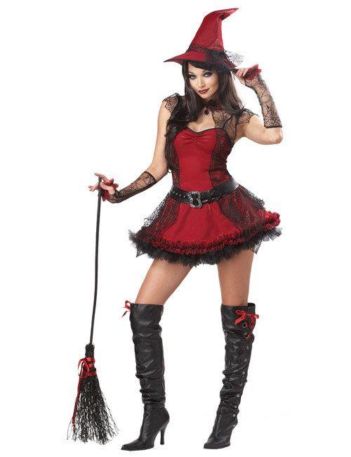 zauberhafte hexe halloween damenkostum schwarz rot aus der kategorie halloween kostume halloween kostume damen kurzer als der rock dieses sexy