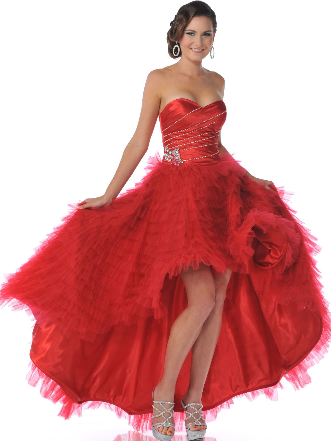Red strapless sweetheart high low prom dress sung boutique la red strapless sweetheart high low prom dress sung boutique la ombrellifo Image collections